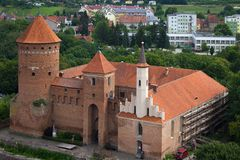 Dächer der alten Stadt von Reszel lizenzfreie stockfotografie