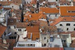 Dächer in der Spalte Stockfoto