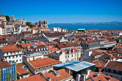 Dächer des Lissabons, Portugal Stockfotografie