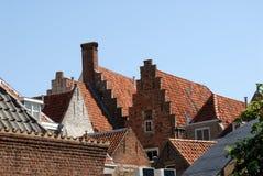 Dächer in einer alten europäischen Stadt Lizenzfreie Stockbilder