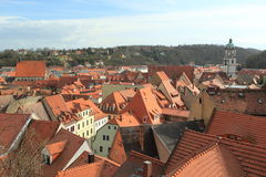 Dächer in Meissen Stockfotografie
