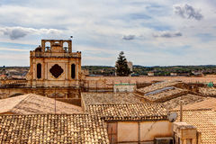 Dächer Noto, Sizilien, Italien Lizenzfreie Stockfotos