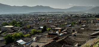 Dächer in Peking Stockbilder