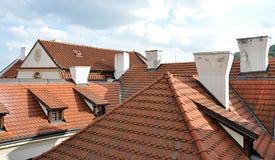 Dächer und Kamine Stockfotos