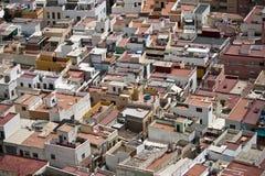 Dächer von Almeria Stockfoto