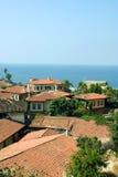 Dächer von Antalya stockfotos