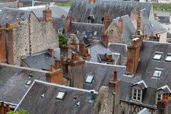 Dächer von Blois-Stadt Stockbilder