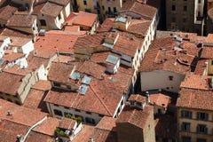 Dächer von der Draufsicht von Europa Stockfoto