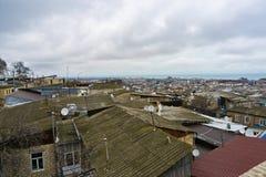 Dächer von Derbent lizenzfreie stockfotografie