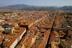 Dächer von Florenz Stockfoto