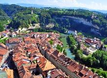 Dächer von Fribourg Lizenzfreies Stockfoto