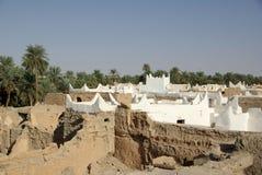 Dächer von Ghadames, Libyen stockfotografie