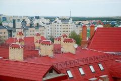Dächer von Häusern Lizenzfreie Stockbilder