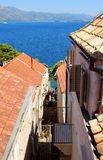 Dächer von Korcula Stockfoto