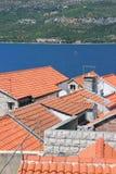 Dächer von Korcula lizenzfreie stockfotografie