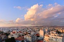 Dächer von Limassol Stockfoto