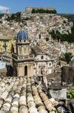 Dächer von Sizilien Stockfotos