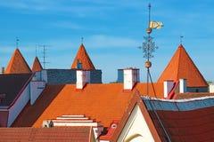 Dächer von Tallinn Estland Lizenzfreie Stockfotografie