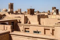 Dächer von Yazd Lizenzfreie Stockfotografie