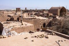 Dächer von Yazd Stockfotografie