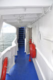 Däck av havsfartyget Arkivbilder