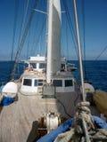 Däck av seglingyachten Royaltyfri Foto