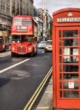 Däckaren för klassikerroutemasterdubblett bussar Royaltyfria Bilder