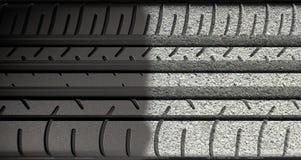Däckdäckmönster som Morphing för att asfaltera Arkivbilder