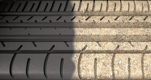 Däckdäckmönster som Morphing till jordning Arkivbild