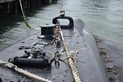 Däcket av USS Pompanito, SS-383, 4 Arkivfoton