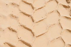 Däckspår på sanden Royaltyfria Bilder