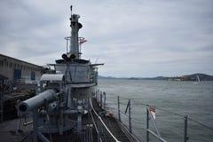 Däckvapnet av USS Pompanito, SS-383, 2 Arkivfoto