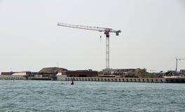 Dämma av det kallade MOSE-PROJEKTET i Adriatiskt havet 11 Fotografering för Bildbyråer