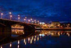 Dämmerung über Donau Stockfoto