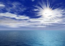 Dämmerung über Ozean Stockbilder