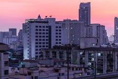 Dämmerung auf Bangkok Stockfotos