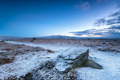 Dämmerung auf Dartmoor Stockfotos