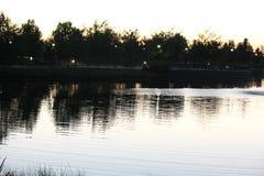 Dämmerung bei Julius M Kleiner Memorial Park Lizenzfreies Stockbild