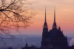 Dämmerung in Brno Lizenzfreies Stockfoto