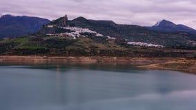Dämmerung Cadiz Spanien Zahara De La Sierra At zeit--Lpapse stock video