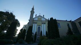 Dämmerung in der Kathedrale stock footage