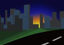 Dämmerung in der Stadt Stockfoto