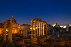 Dämmerung am Forum Romanum Lizenzfreie Stockbilder