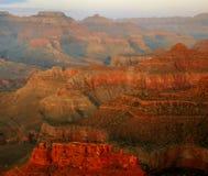 Dämmerung, Grand Canyon Stockbild