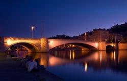 Dämmerung in Lyon Stockfotos