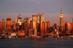 Dämmerung in Manhattan Stockbilder