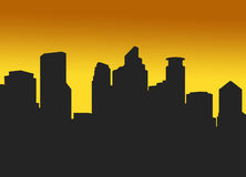 Dämmerung in Minneapolis Stockfotografie