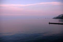 Dämmerung am seasite Lizenzfreies Stockbild