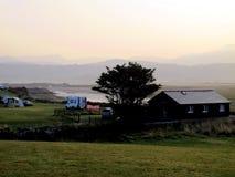 Dämmerung, Shell Island, Wales Stockbild