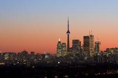 Dämmerung in Toronto Stockbild